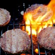 Stock Photo: Sizzling Burgers On Grill