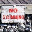 """No Swimming"" Sign — Stock Photo"