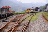 Eski dizel elektrikli lokomotif — Stok fotoğraf