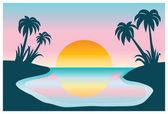 Sunrise — Stock Vector