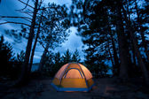 Windy Night at the Campsite — Stock Photo