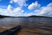 Canoe on the Beach — Stock Photo