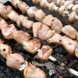 Stock Photo: Hot shish kebab