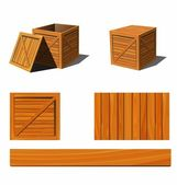 Wooden box — Vettoriale Stock