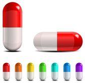 Pills set — Stock Vector