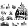 architectural features — Stock Vector