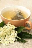 Elder tea — Stock Photo