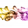 Abstract isolated and colored smoke background - creativity conc — Stock Photo