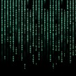 Stock Photo: Green digital binary code background - matrix technology future