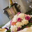 Beautiful wedding table - Stock Photo