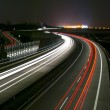 Royalty-Free Stock Photo: Night highway - long exposure - light lines
