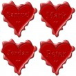 Valentine love hearts with names: Samuel, Mark, Jordan, Peter — Stock Photo #7367762