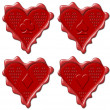 Heart - red wax seal collection — Stock Photo #7367815