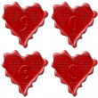 9, 0 heart - red wax seal collection — Stock Photo #7367818