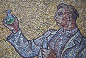 Mozaik duvar astronomik saati, olomouc şehir - çek adam — Stok fotoğraf