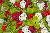 Floral background - flowers mix — Stock Photo