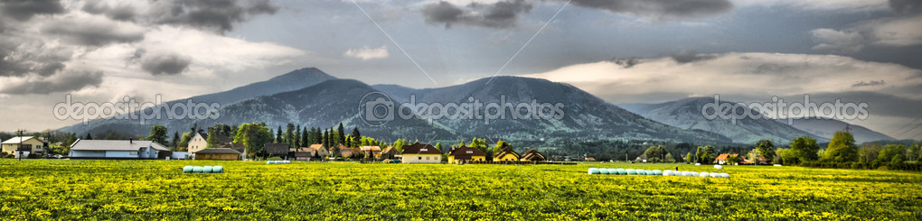 Beautiful panorama from Beskydy, Czech republic - HDR — Stock Photo #7367477