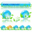 Abstract vector environmental theme elements. Website banners is - Stock Vector