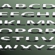 Vector chrome alphabet.isolated lettres abstraite sur couleur arr.plans — Vecteur #7366231