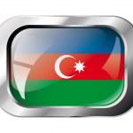 Azerbaijan shiny button flag vector illustration. Isolated abstr — Stock Vector #7366797