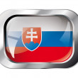 Slovakia shiny button flag vector illustration. Isolated abstrac — Stock Vector