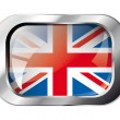 Great britain shiny button flag vector illustration. Isolated ab — Stock Vector