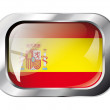 Spain shiny button flag vector illustration. Isolated abstract o — Stock Vector #7366817