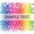 Vector abstract background. Rainbow mosaic tamplate. — Stock Vector