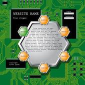 Design modello del sito web illustrazione vettoriale. pagina web moderno de — Vettoriale Stock