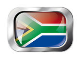 South africa shiny button flag vector illustration. Isolated abs — Stockvector