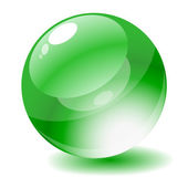 Vektor-illustration. grüne glänzende kreis web-taste. — Stockvektor