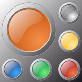 Vector glossy buttons for web applications. — Stok Vektör