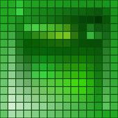 矢量抽象背景-方块马赛克纹理-绿色基调 — 图库矢量图片