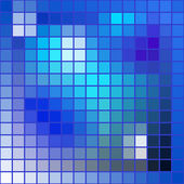 Vector abstract background - squares mosaic texture - blue tones — Stock Vector