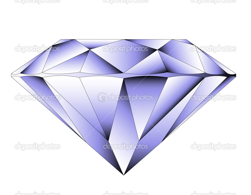 Vector round brilliant cut diamond perspective — Stock Vector #7367801