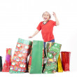 Boy with Christmas Gift — Stock Photo #7574223