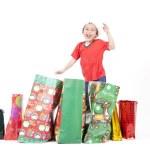 男孩的圣诞礼物 — 图库照片 #7574223