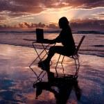 Working at Sunrise — Stock Photo