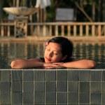 Woman at Swimming Pool — Stock Photo