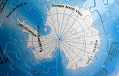 World 3D Puzzle: South Pole — Stock Photo