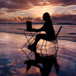 Working at Sunrise — Stock Photo