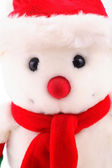 Snowman in close up — Stock Photo