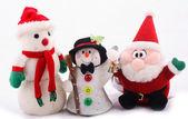 Snowman and Santa Claus — Stock Photo
