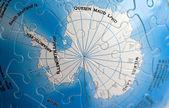 World 3D Puzzle: South Pole — Stock Photo
