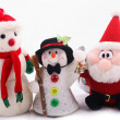 Snowman and Santa Claus — Stock Photo