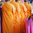 Stock Photo: Monks in Line