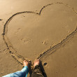 Stock Photo: Love on beach