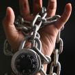 Locked hand — Stock Photo