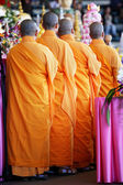 Monks in Line — Stock Photo