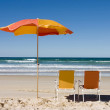 Colorful Beach Umbrella — Stock Photo #7664726